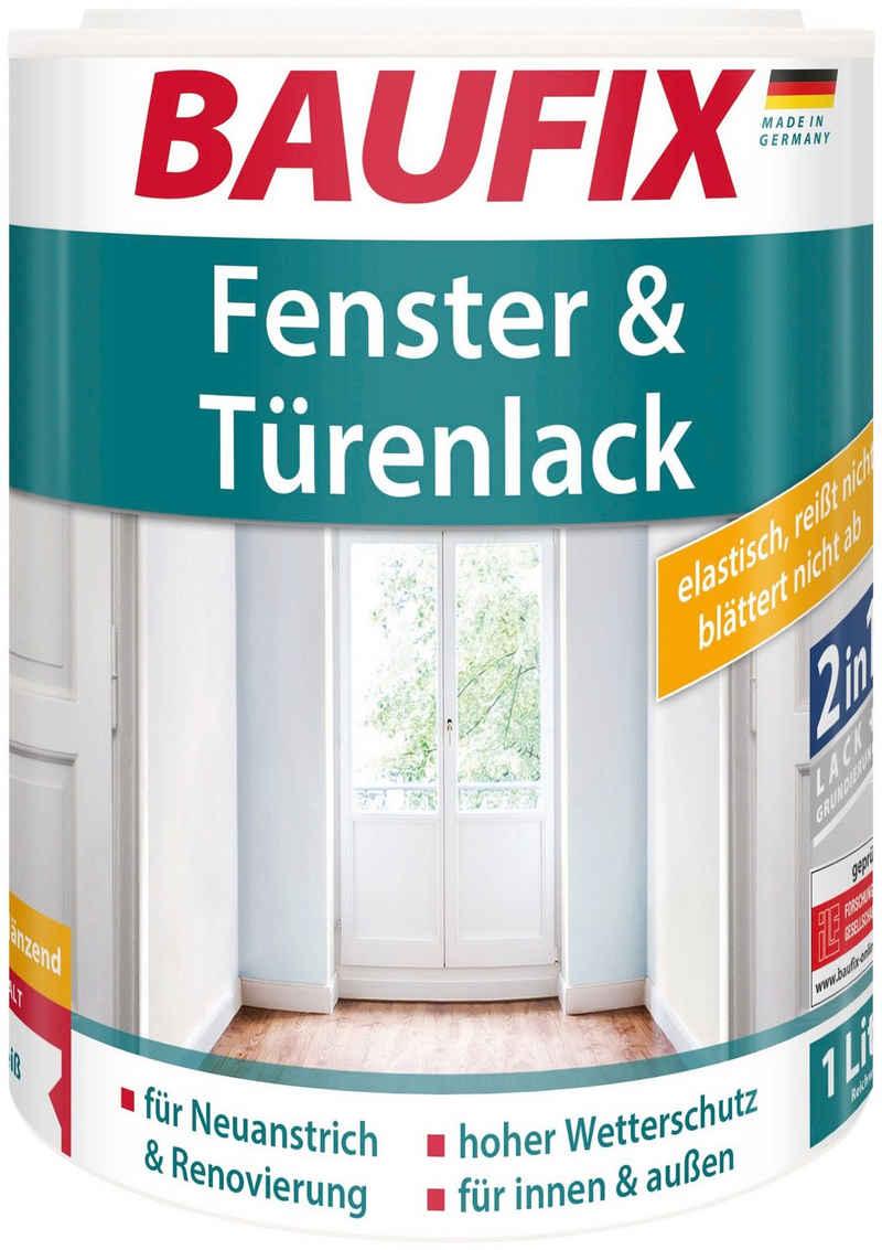 Baufix Holzlack »Fenster- & Türenlack seidenglänzend«, 1 Liter, weiß