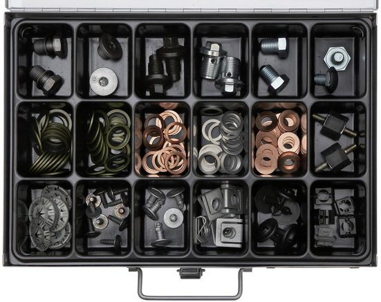 RAMSES Sortimentskasten , mit Ölservice VW/Opel/Ford, 154 Teile