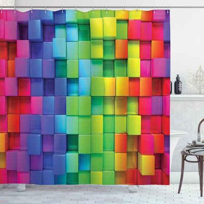 Abakuhaus Duschvorhang »Moderner Digitaldruck mit 12 Haken auf Stoff Wasser Resistent« Breite 175 cm, Höhe 200 cm, Bunt rainbow Color