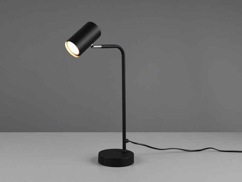 meineWunschleuchte LED Schreibtischlampe, Arbeitsplatzleuchte & Leselampe Bett - LED stufenweise dimmbar - Schwarz, für Schreibtisch-Beleuchtung, Nachttischlampe & Büroleuchte