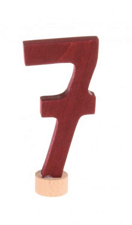 GRIMM´S Spiel und Holz Design Kerzenständer, Stecker Zahl 7