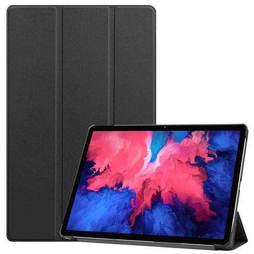 Wigento Tablet-Hülle »Für Lenovo Tab P11 11.0 Zoll TB-J606F Tablet Tasche 3 folt Wake UP Smart Cover Etuis«