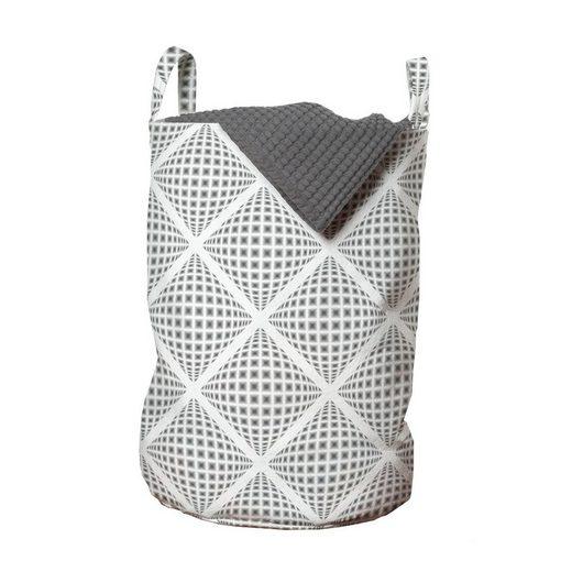 Abakuhaus Wäschesack »Wäschekorb mit Griffen Kordelzugverschluss für Waschsalons«, Geometrisch Digital-Diamant-Formular