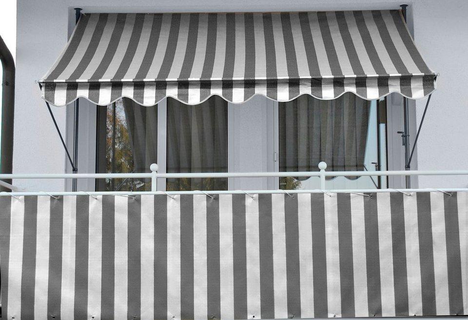 balkon sichtschutz weiß