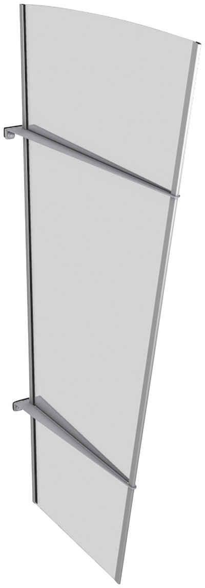 GUTTA Seitenblende »XL Edelstahl«, TxH: 55-85x167 cm, weiß satiniert