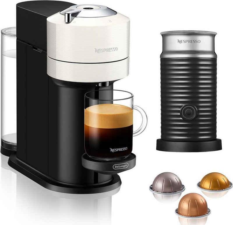 Nespresso Kapselmaschine ENV 120.W Vertuo Next, weiß, mit Aeroccino Milchaufschäumer im Wert von 75,- UVP