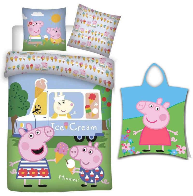 Babybettwäsche »Peppa Pig - Baby-Bettwäsche-Set, 100x135 und Badeponcho, 50x115«, PAW PATROL, 100% Baumwolle