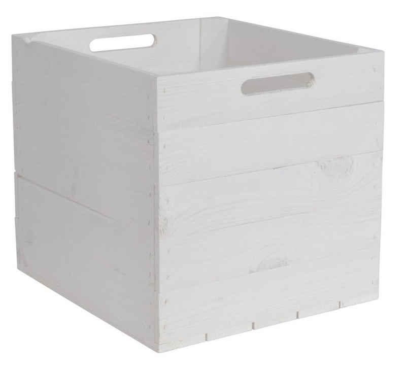 CHICCIE Holzkiste »Kallax Aufbewahrungsbox Weiß 33x38x33cm« (1 Stück)