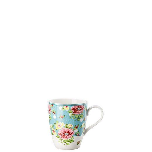 Hutschenreuther Becher »Springtime Flowers Türkis Becher mit Henkel«, Porzellan