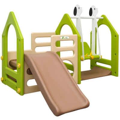 LittleTom Rutsche »Kinder Spielplatz ab 1 Jahr Garten Spielturm Baby«, 155x135 Rutsche mit Schaukel