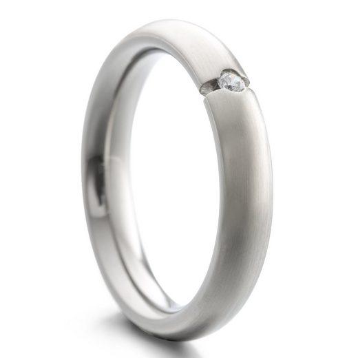 Heideman Fingerring »Paari mit Stein strichmatt« (1-tlg), Damenring für Frauen mit Stein
