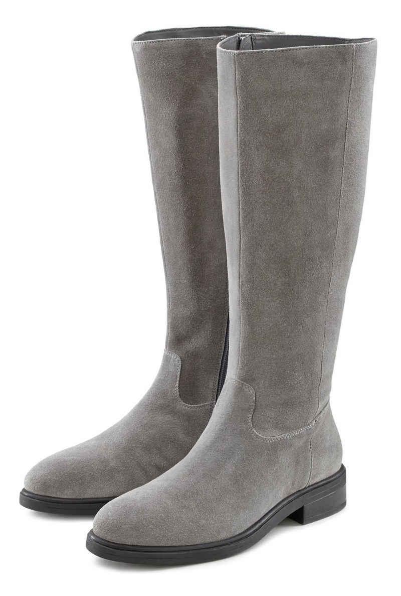LASCANA Stiefel aus Leder mit Langschaft
