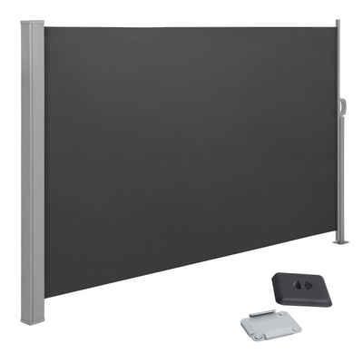SONGMICS Seitenmarkise »GSA160TG« Seitenrollo, 160 x 300 cm, Sichtschutz, Sonnenschutz, für Balkon, rauchgrau