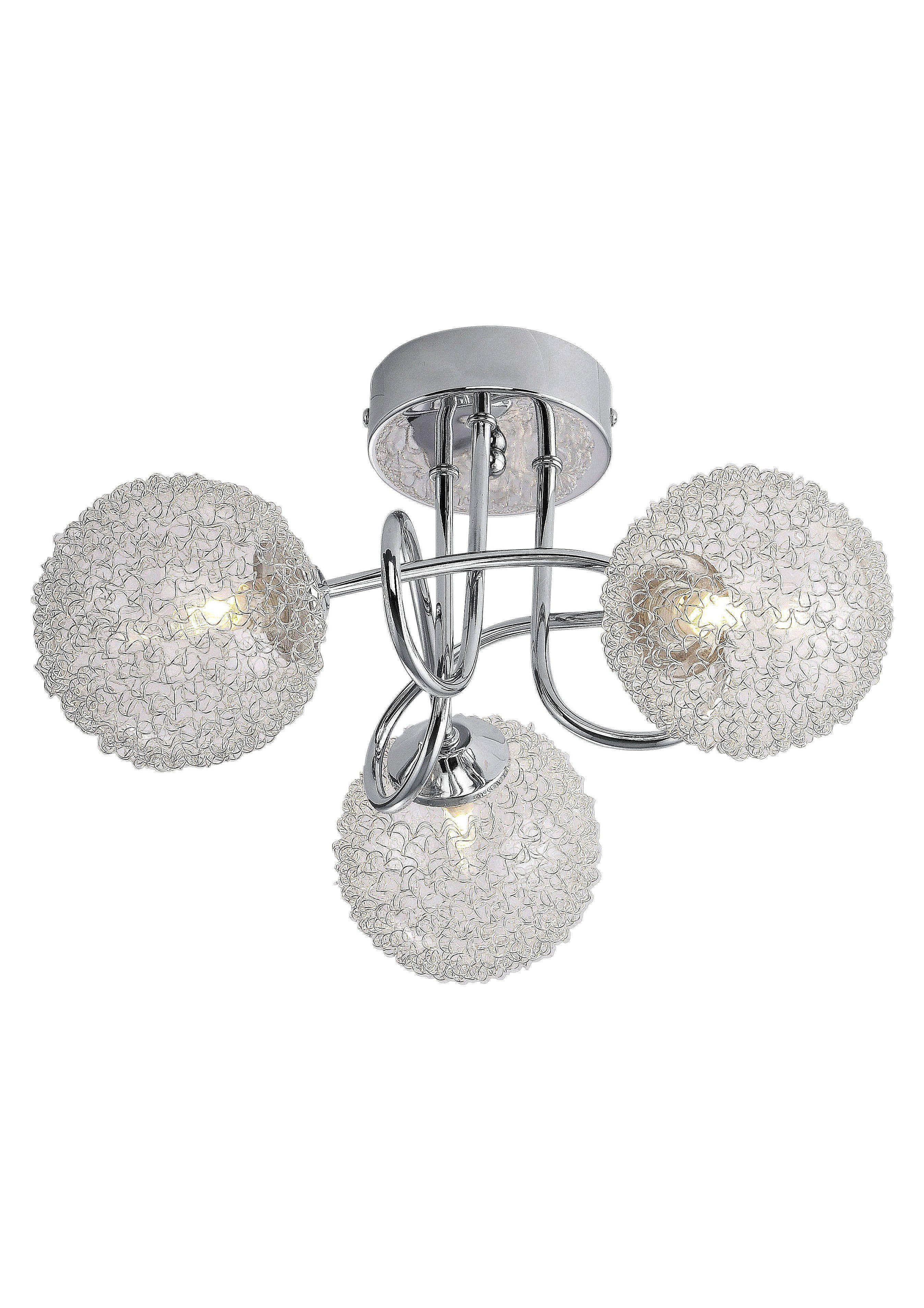 Halogen-Deckenlampe, 3-flg., Leuchten direkt