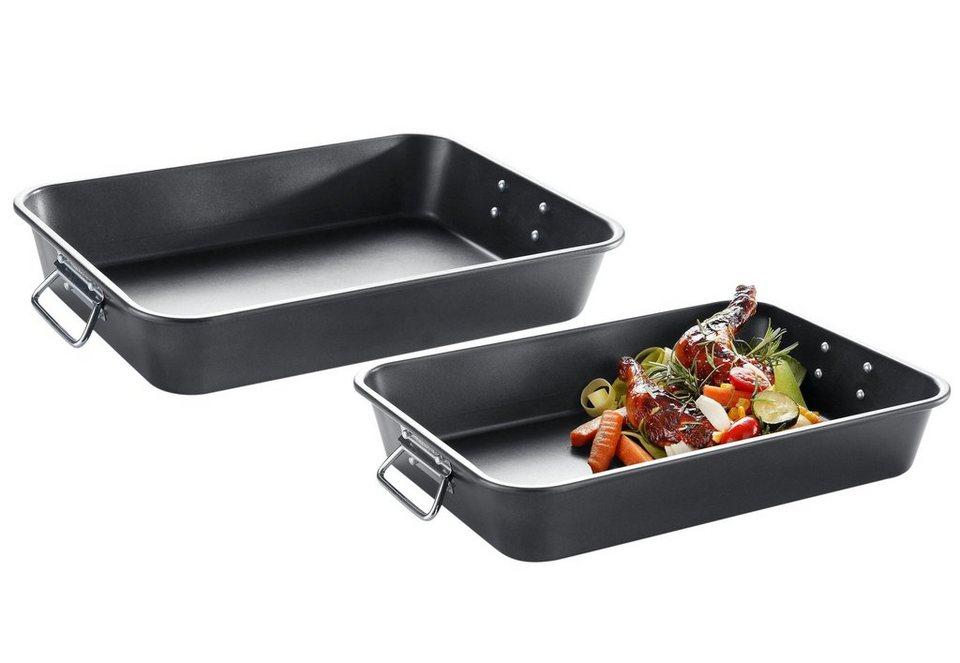 Brat-/Auflaufformen-Set, Meine Küche (2tlg) in schwarz