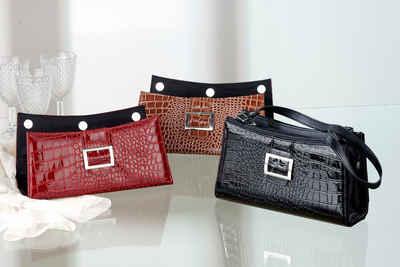 JOKA international Abendtasche »Chamäleon-Handtasche 3in1, Kroko-Look, 13014«, Damen Handtasche