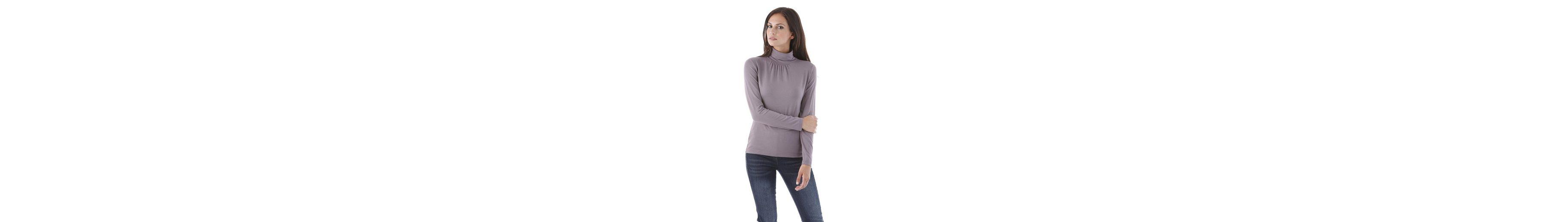 Aniston Rollkragenshirt, mit Stretchanteil