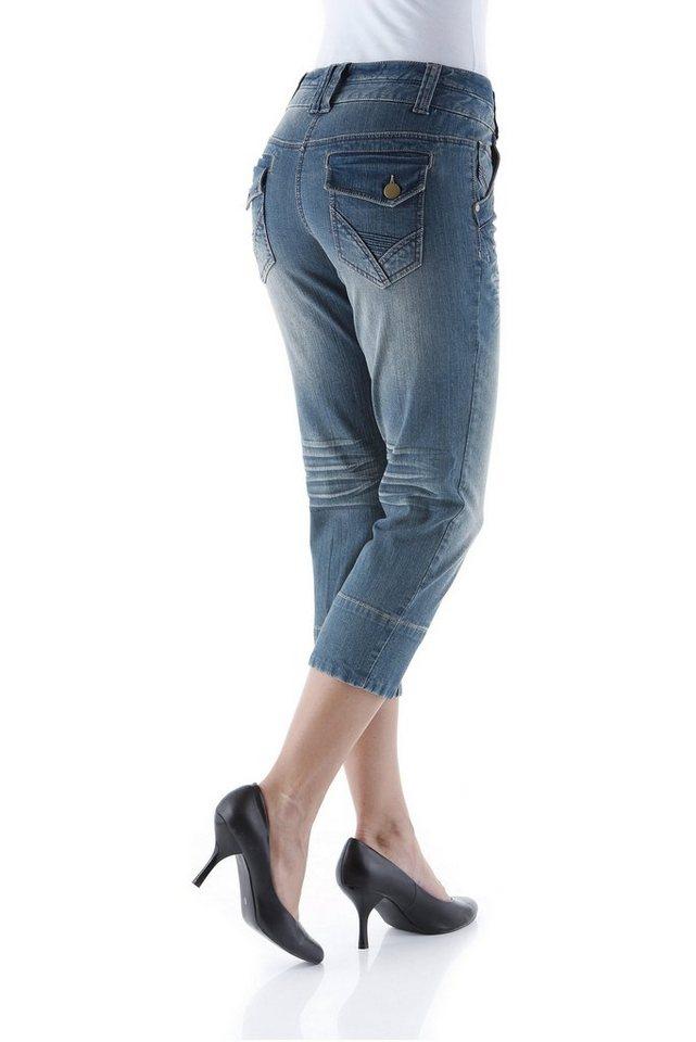 Aniston Caprijeans in blue-denim