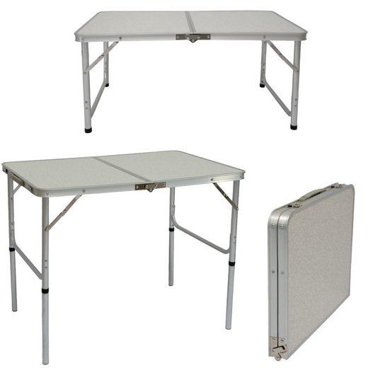 AMANKA Campingtisch »Klappbarer höhenverstellbarer Campingtisch«, 90x60x70 cm Kofferformat Grau