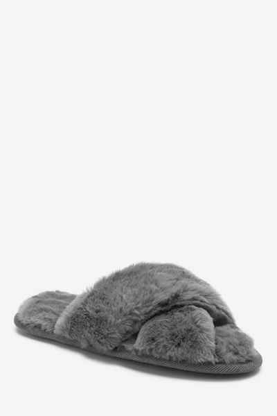 Next »Recycled Slider-Slipper aus Kunstfell« Hausschuh (1-tlg)