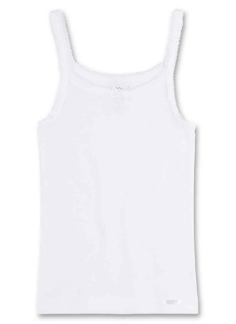 Sanetta Unterhemd »Mädchen Unterhemd Shirt ohne Arm Top Basic - Weiß«