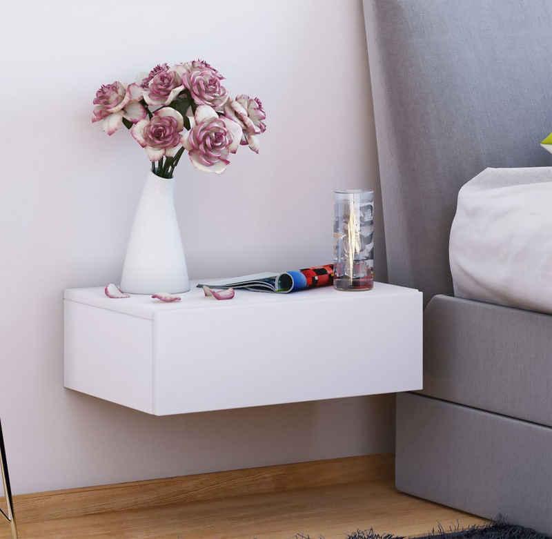 VCM Nachttisch »Holz Wandschublade Nachttisch Dormas«
