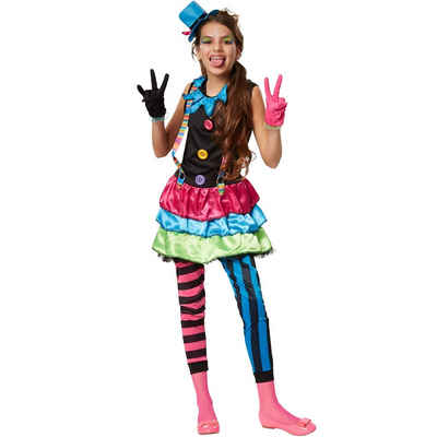 tectake Clown-Kostüm »Mädchenkostüm Crazy New Wave Clown«