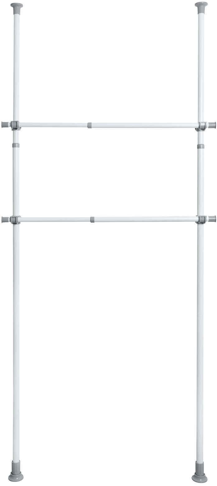 WENKO Kleiderstange »Herkules« (Set, 2 Stück), perfekt für den begehbaren Kleiderschrank, ausziehbar 75 -120 cm
