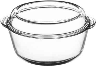 Mason Cash Auflaufform »Classic«, Borosilikatglas, rund, mit Deckel