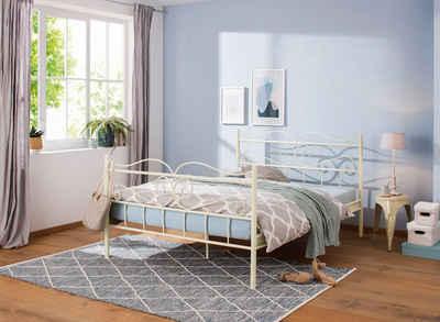 Home affaire Metallbett »Jübek«, aus einem Metallgestell, in verschiedenen Bettbreiten und Farbvarianten, dekoratives Kopf- und Fußteil