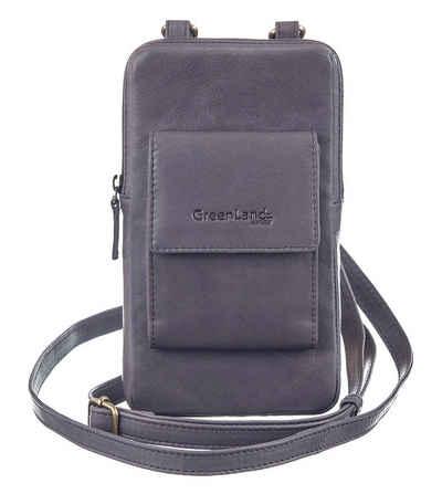 GreenLand Nature Mini Bag »NATURE Soft«, mit aufgesetzter Kartenbörse und RFID-Schutz