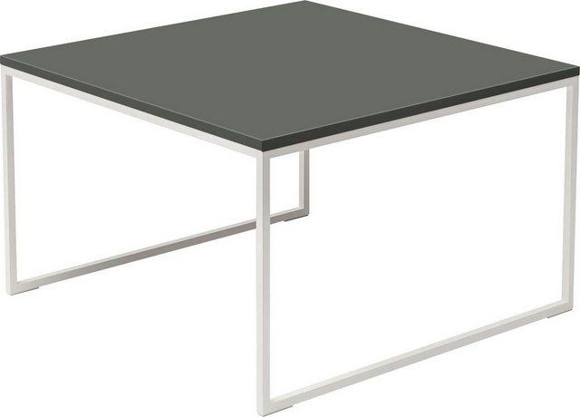 Wohnzimmertische - now! by hülsta Beistelltisch »CT 17«, quadratisch, mit weißem Gestell, Höhe 43,4 cm  - Onlineshop OTTO