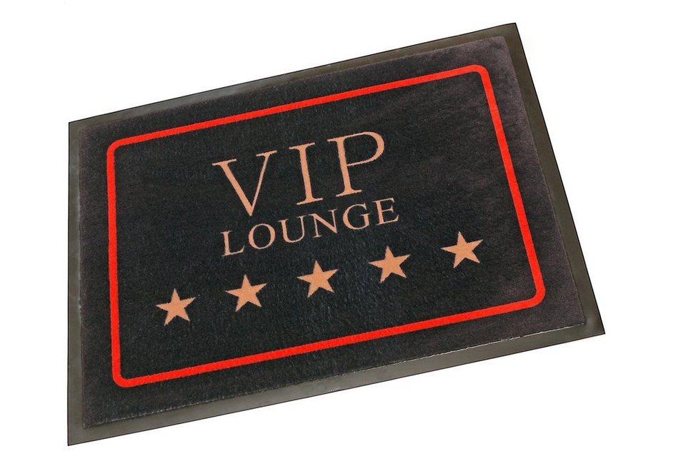 Fußmatte, Hanse Home, »VIP Lounge«, rutschhemmend beschichtet, Motiv-Druck, strapazierfähig in schwarz