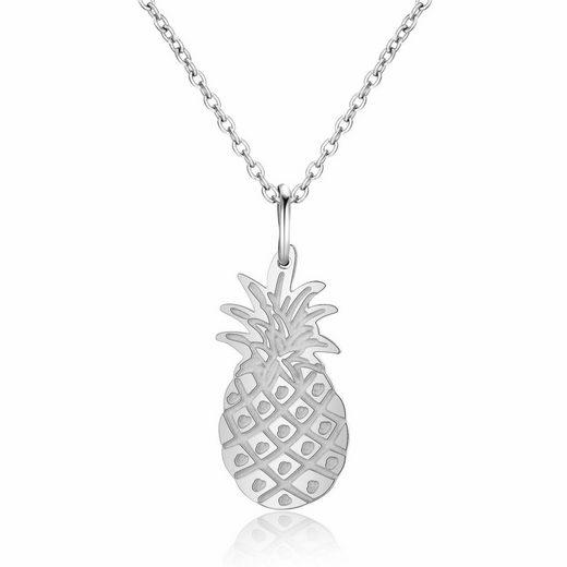 AILORIA Edelstahlkette »DÉLICE« (1-tlg., inkl. Schmucksäckchen und Geschenkbox), Halskette aus Edelstahl mit Ananas-Anhänger