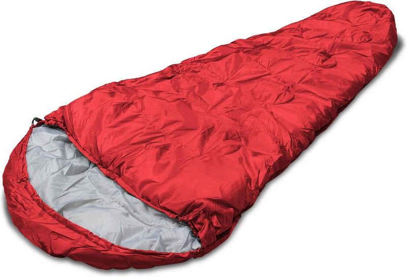 normani Mumienschlafsack »Mumienschlafsack Base Camp One«, Einzelschlafsack Schlafsack bis - 15°C mit Kompressionssack