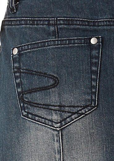 Cheer Jeansrock, mit eingearbeiteten Abnähern
