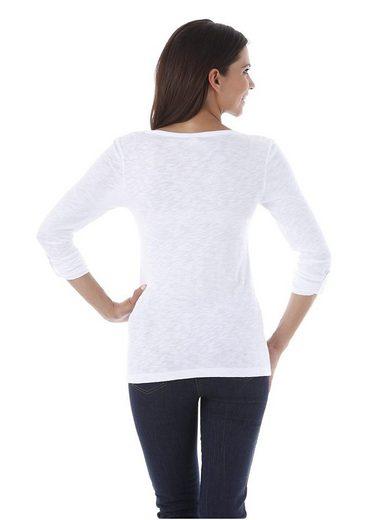 Cheer V-Shirt, mit langen Ärmeln zum Krempeln