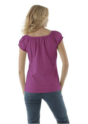 Cheer T-Shirt, mit Carmenausschnitt