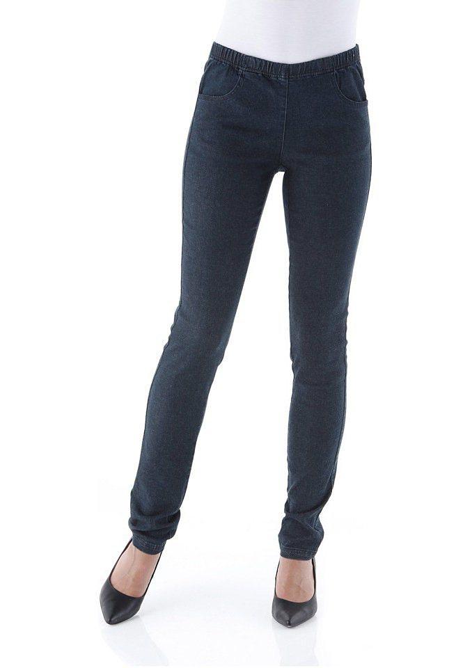 Cheer Jeansleggings »Julia« mit Gummizugbund in dark-blue