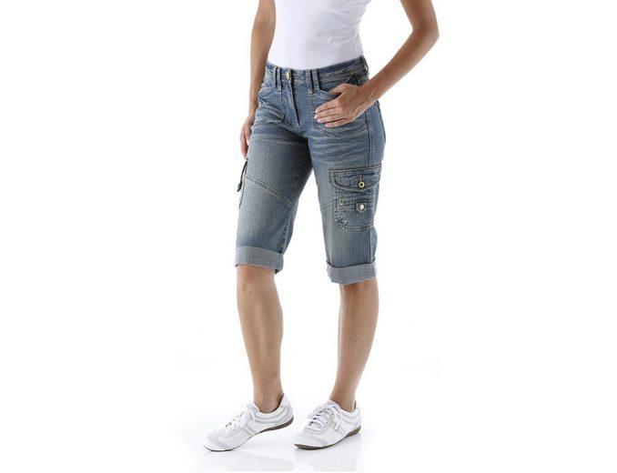 Cheer Jeansbermudas, mit leichter Used-Waschung