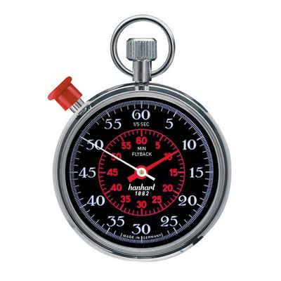 hanhart Stoppuhr »Stoppuhr Additionsstopper MegaMinute mit Flyback«, glatte Lünette, 1/5-Sekunden-Messung, große springende Zentralminute mit Messbereich bis 60 Minuten