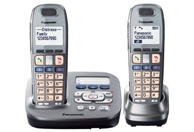 panasonic kx tg6592gm duo schnurloses dect telefon set mit. Black Bedroom Furniture Sets. Home Design Ideas
