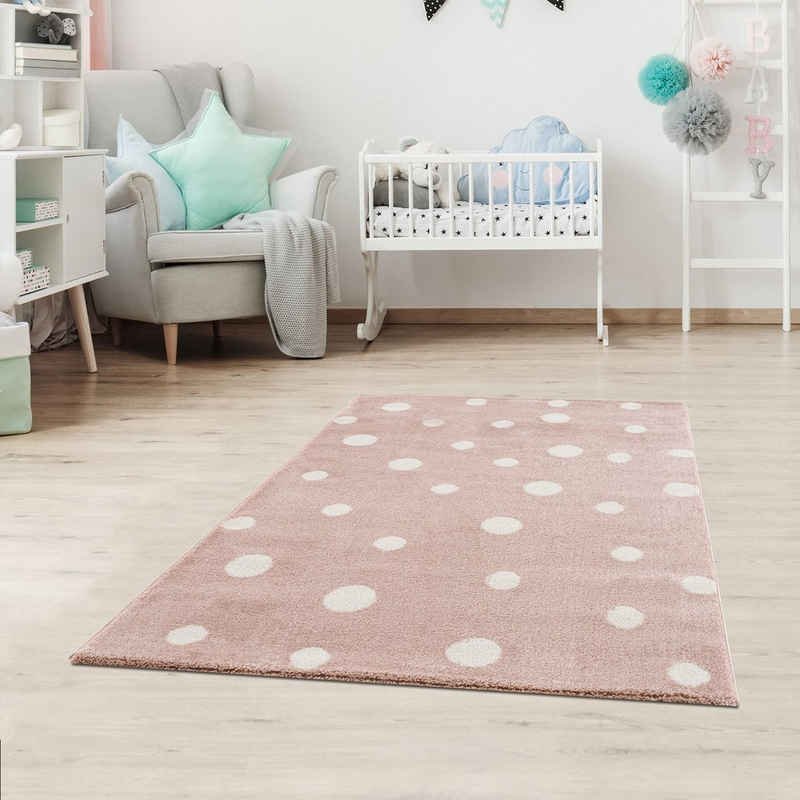 Kinderteppich »DOTS«, Fashion Home, Läufer, Gepunktet