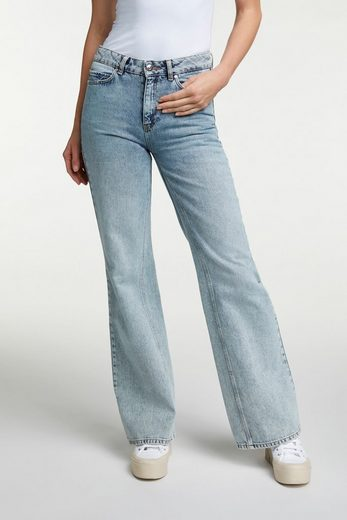 Oui Straight-Jeans »Denim THE WIDE LEG in Flared Fit« Ohne Details