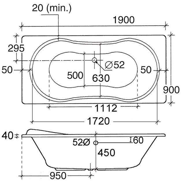 Badewannen und Whirlpools - OTTOFOND Whirlpool Badewanne »Palma«, (Komplett Set, 3 tlg), Typ 1, chrom  - Onlineshop OTTO