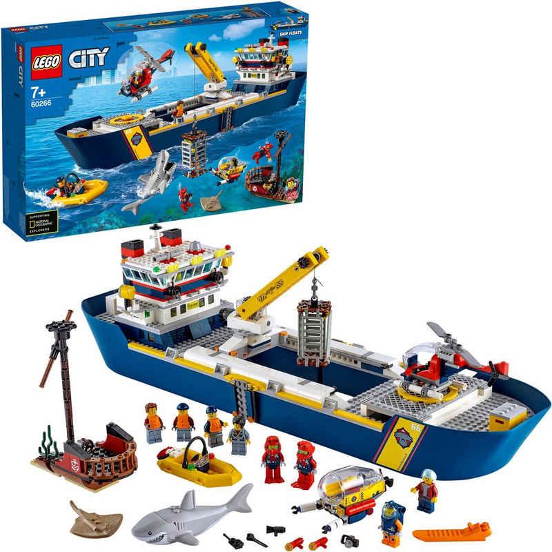 LEGO® Konstruktionsspielsteine »Meeresforschungsschiff (60266), LEGO® City Oceans«, (745 St), Made in Europe