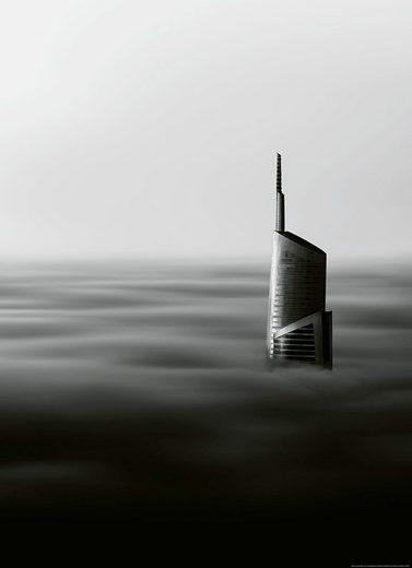 IDEALDECOR Fototapete »Wolkenkratzer«, BlueBack, 2 Bahnen, 183 x 254 cm