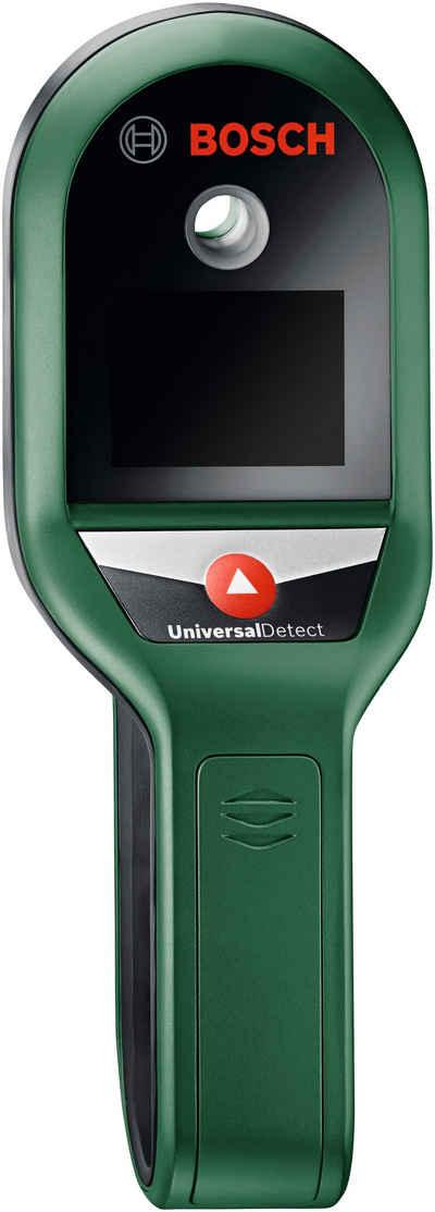BOSCH Metalldetektor »UniversalDetect«, findet Metall, spannungsführende Kabel und Holzunterkonstruktionen