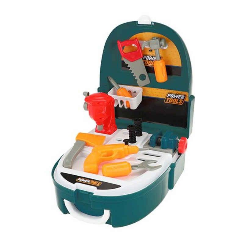 JOKA international Kinder-Werkzeug-Set »Power Tools Werkzeugset im Rucksack, 21tlg.«, (21-tlg)
