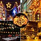 GlobaLink LED-Lichterkette »Lichterkette Außen und Ihnnen Glühbirnen«, Seilsystem G40 Lichterkette, Lichterkette Glühbirnen IP65 30 Birnen G40 11,7M (1 Ersatzbirnen) Innen und Außen Deko mit stecker für Zimmer, Bar, Garten, Balkon, Sommerabend-Warmweiß, Bild 4